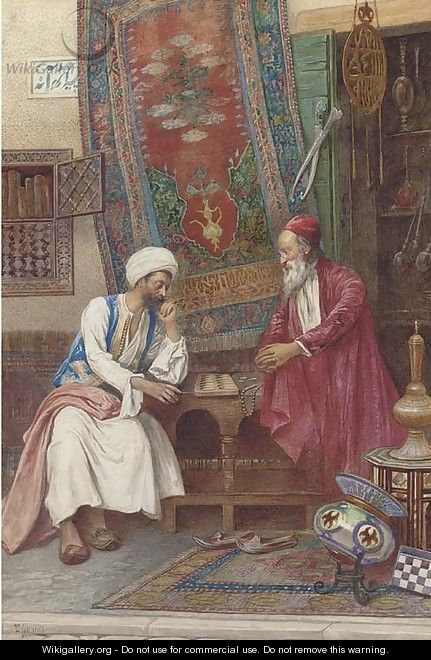 An Oriental game of dice - Umberto Cacciarelli