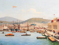A Turkish harbour scene - Turkish School