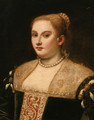 Portrait of a lady, half-length, in a black dress - Venetian School