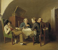 Conversation over a round table - Vasily Perov