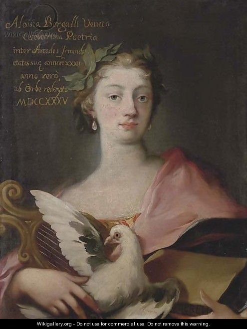 Portrait of Luisa Bergalli (1703-1779), as the Arts - Venetian School