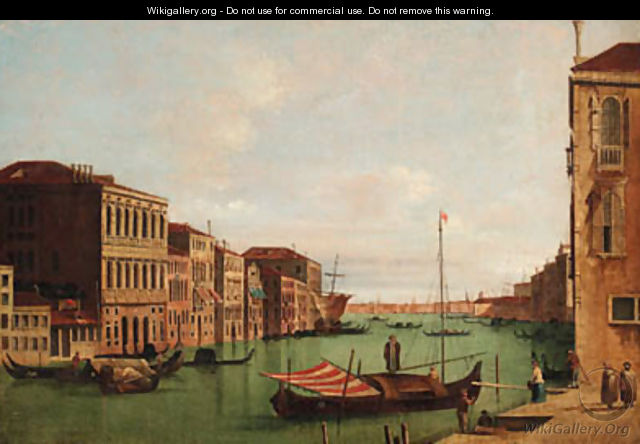 The Grand Canal, Venice, looking East, from the Campo San Vio - Venetian School