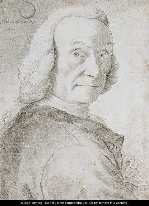 Portrait of a gentleman, bust-length, wearing a powdered wig - Venetian School