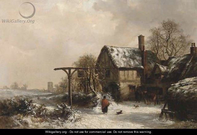 Outside the Stag, winter - Thomas Smythe