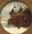 Delivering supplies in a winter landscape - Thomas Smythe
