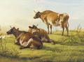 Cattle resting in a meadow - Thomas Sidney Cooper