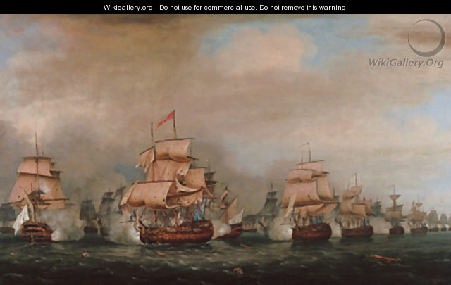 The Battle off Trincomalee, 3 September 1782 - Thomas Whitcombe