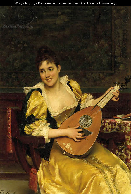 Playing the lute - Tito Conti