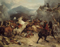 A detachment of Cromwell's cavalry surprised in a mountain pass - Thomas Woodward
