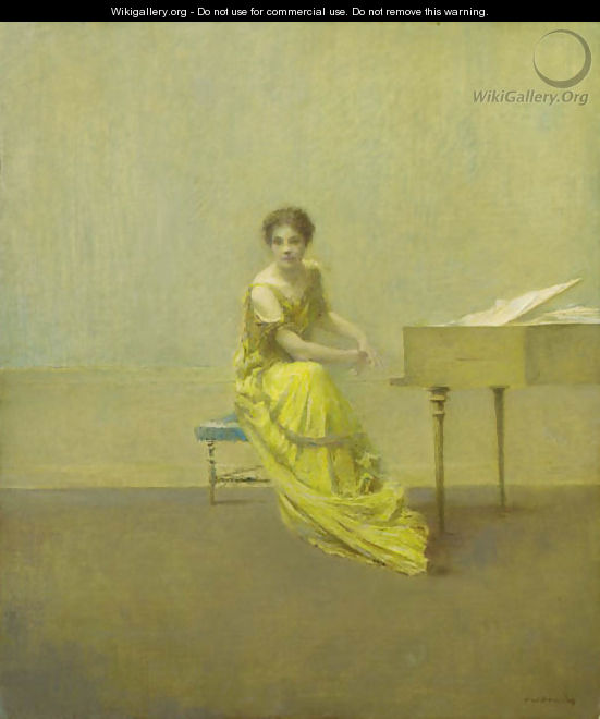 The Music Lesson - Thomas Wilmer Dewing