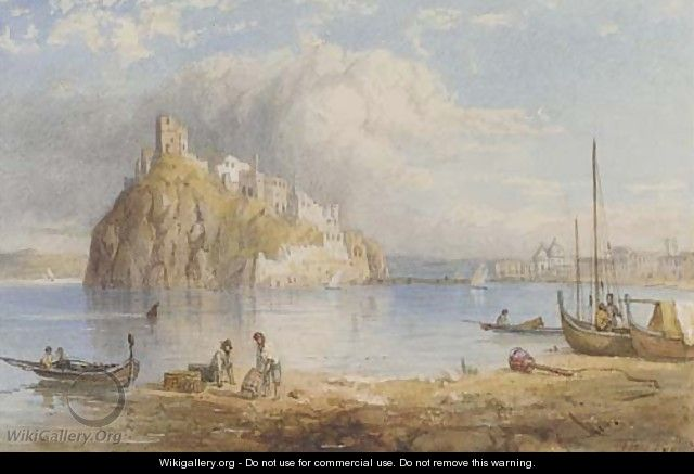 The Rhein at Ehrenbrightstein and Castel Aragonese, Ischia - Thomas Pyne
