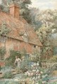 Tending to a cottage garden - Thomas Nicholson Tyndale