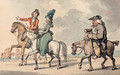 Gentlefolk out riding - Thomas Rowlandson