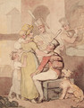 Entertaining soldiers - Thomas Rowlandson