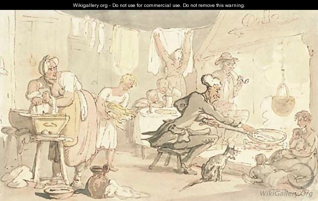 Dr. Syntax at a country inn - Thomas Rowlandson