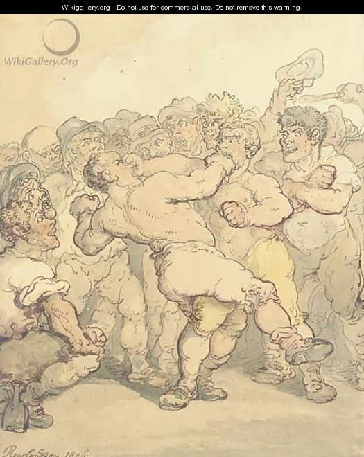 Prize fighters - Thomas Rowlandson