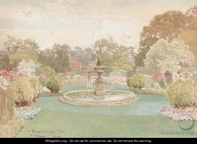 The fountain at Groombridge Place, Kent (illustrated); and The walled garden - Thomas H. Hunn