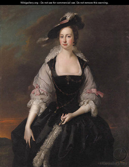 Portrait of Lady Frances Courtenay (d.1761), daughter of Heneage Finch, 2nd Earl of Aylesford - Thomas Hudson