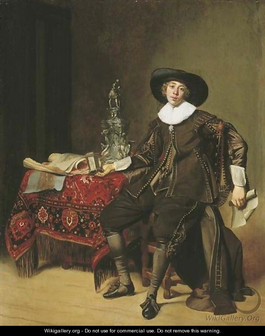 Portrait of a silversmith, thought to be Christian van Vianen - Thomas De Keyser