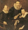 Group portrait of three gentlemen - Thomas De Keyser
