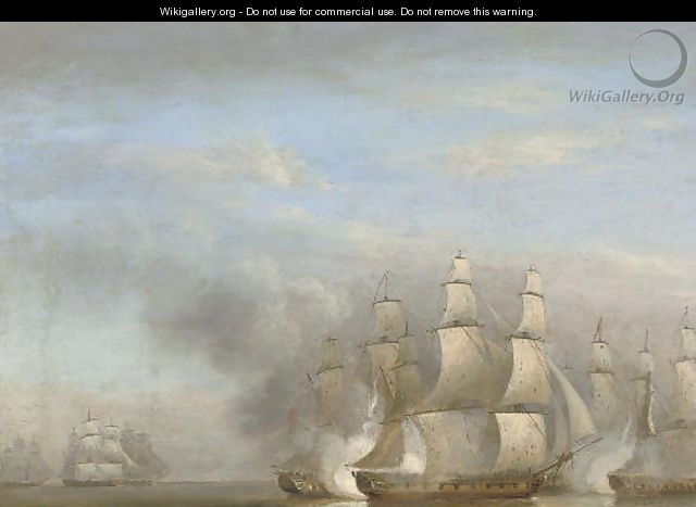 H.M.S. Arethusa in company with the frigates - Thomas Luny