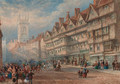 Old houses of Staple Inn, Holborn - Thomas Miles Richardson