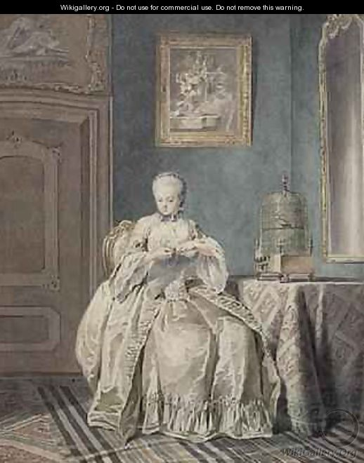 Young Girl Embroidering - Jacobus Buys