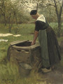 Fetching water from the well - Willy Martens