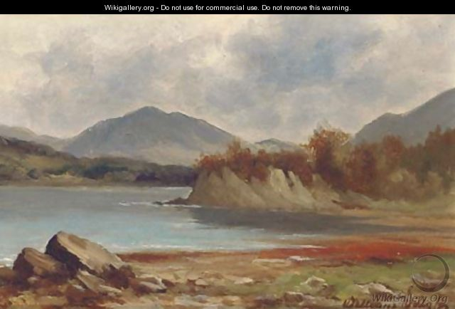 A lakeland landscape; and Another similar - James William Wells