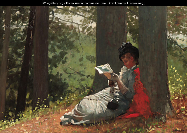 Girl Reading Under an Oak Tree - Winslow Homer