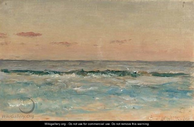 Waves Rolling in on a Sandy Beach - Thomas Worthington Whittredge