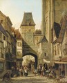 The clock tower, Rouen - William Raymond Dommersen