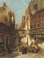A street in the Jews Quarter, Amsterdam - William Raymond Dommersen