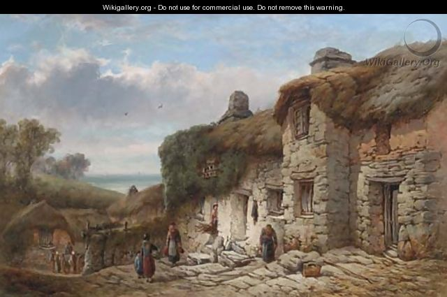 Old cottage, Bigbury, Devon - William Pitt