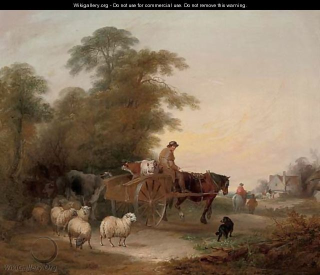 On the way to market - William Joseph Shayer