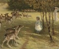 Feeding the deer in the park - William Samuel Jay