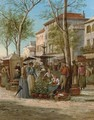 The market square, Grasse - William Raymond Dommersen