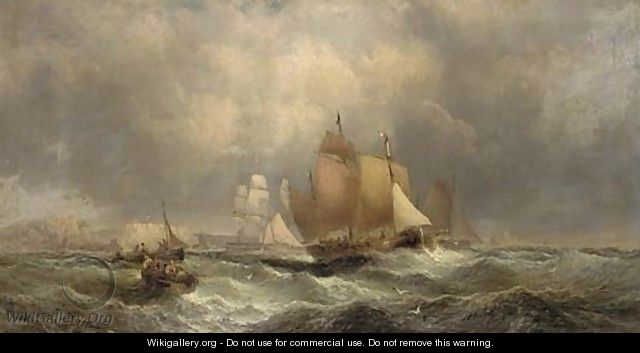 Crowded waters off Whitby - William A. Thornley or Thornbery