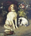 Dogs with Flowers and Game - William Strutt