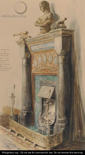The mantlepiece at Tower House, Portsmouth - William Lionel Wyllie