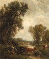 Cows by the Stream - William M. Hart