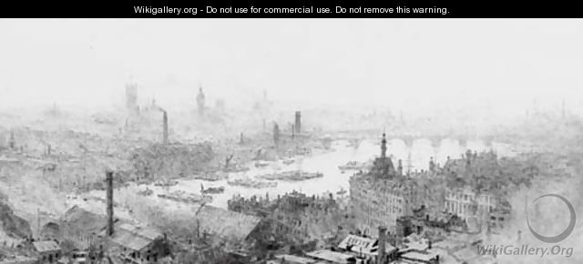Westminster from the City (illustrated) - William Lionel Wyllie