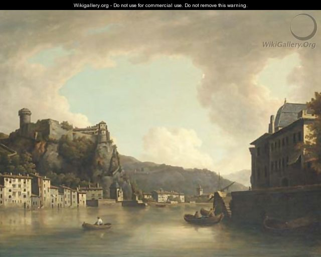View of the Chateau of Pierre Encise, Lyon - William Marlow