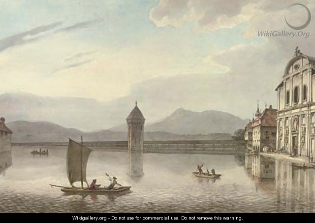 View of Lucerne, Kapellbrucke, Switzerland - William Marlow