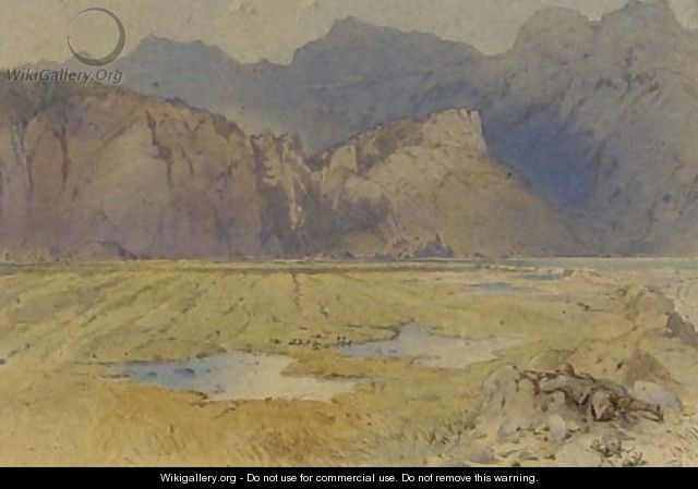 Duck shooting in a moutainous landscape - William Oxendon Hammond