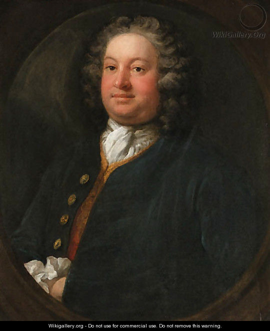 Portrait of a Gentleman, possibly Edward Cope Hopton (1707-1754) - William Hogarth