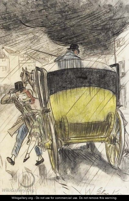 Carriage Scene - William Glackens