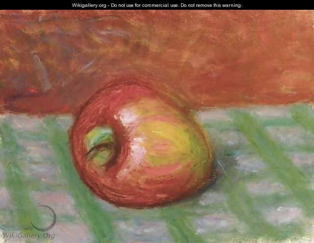 Apple on a Checkered Cloth - William Glackens