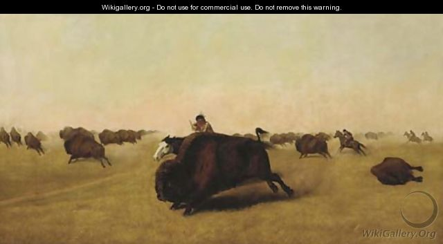 Buffalo Hunt - William Jacob Hays