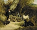 Gentleman at Rest with his Gun Dogs - William Joseph Shayer